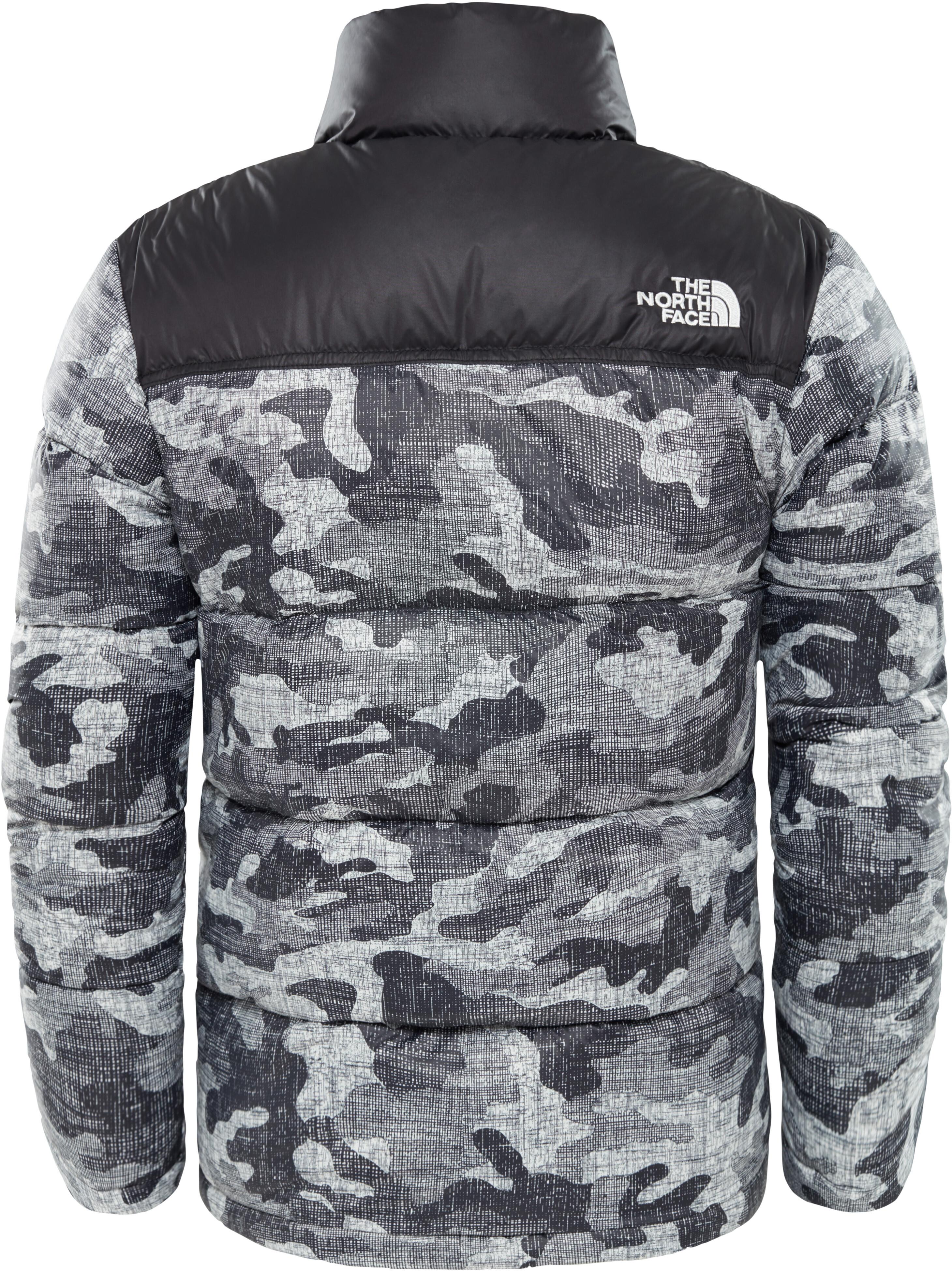8da17ab222 The North Face Nuptse Jacket Children grey black at Addnature.co.uk